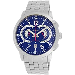 Roberto Bianci Gents 'Pro Racing' Stainless Steel Chronograph Watch with Blue Dial