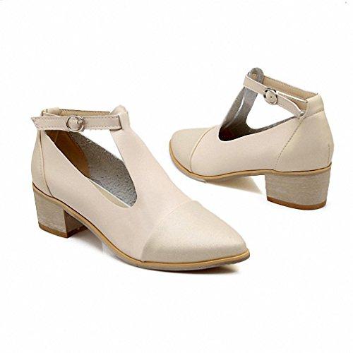 tendenza della moda 2017 estate dei nuovi sandali vuoti T-bocca con spessore di scarpe scarpe a punta meters white