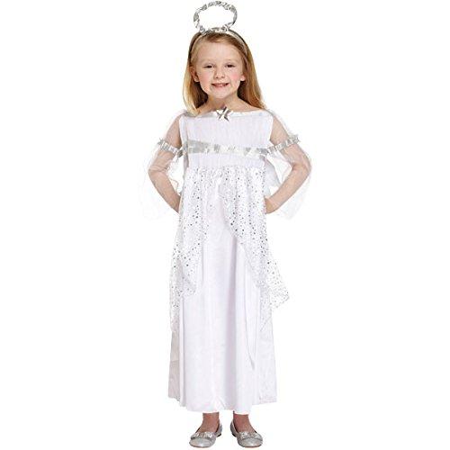 Girls Angel Costume Christmas Nativity Fancy Dress Small -