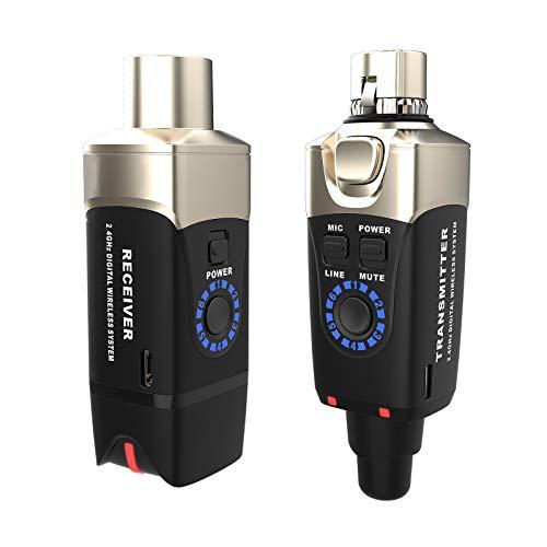 XVIVE U3 Sistema Wireless per Microfono e Sorgenti Line ricaricabile, Compatibile con Microfono Dinamico XLR, Casse Acustiche attive, Mixer, PA DJ e DSLR