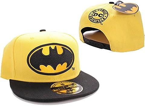 Batman Cap Bat Logo Gelb Snapback Mütze Schirmmütze DC Comics
