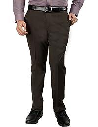 Inspire Premium Brown Slim Fit Trousers For Men