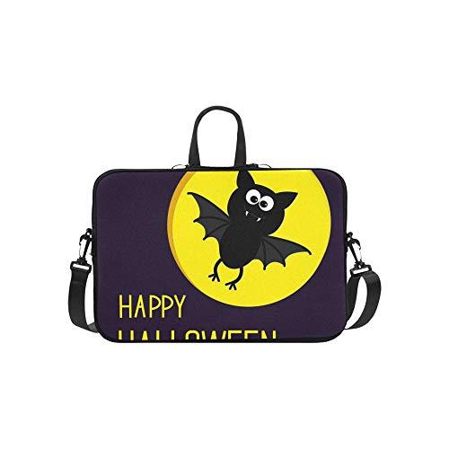 Cute Bat Moon Happy Halloween Karte Aktentasche Laptoptasche Messenger Schulter Arbeitstasche Crossbody Handtasche Für Geschäftsreisen