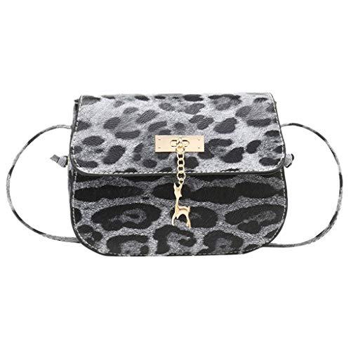 Leopardo Donna Pochette Elegante Borsa A Tracolla Spalla Catena Selvaggio Semplice—Moda—Tempo Libero— Shopping/Viaggio/Solitamente (Marrone)