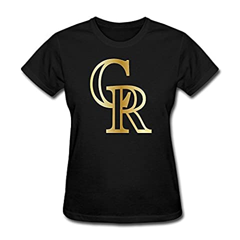 T&Tat Women's Colorado Rockies Gold Legend Logo T-shirt Tee XX-Large