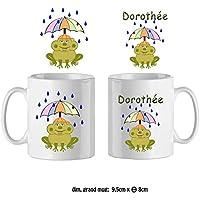 Texti-Cadeaux-Mug Grenouille parapluie-personnalisé avec un prénom exemple Dorothée