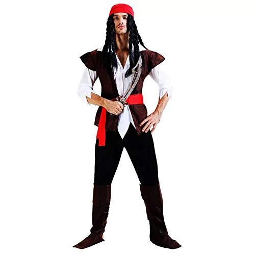 (thematys Piratenkostüm Pirat Kostüm-Set für Herren - perfekt für Fasching, Karneval & Halloween - Einheitsgröße 160-180cm)