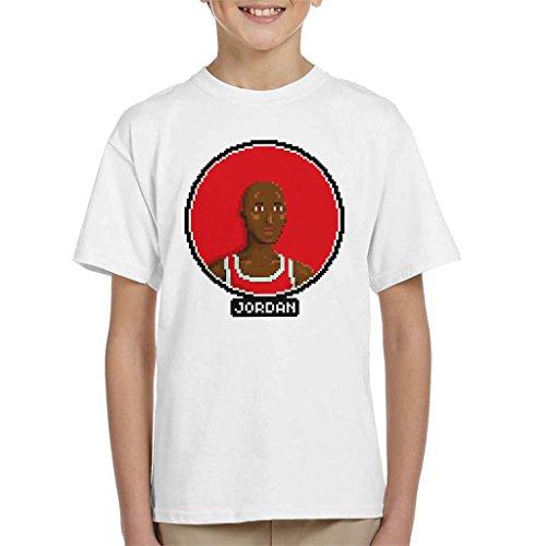 Michael Jordan Portrait Pixel Kid's T-Shirt (11 Space Kids Jam)