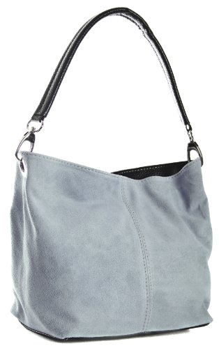 Big Handbag Shop, Borsa a spalla donna One Grigio (Grigio)