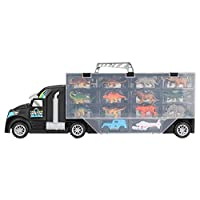 Zerodis. Dinosaur Transport Truck Carrier, Dinosaur Wild Life Animal Safari Car Carrier Trailer Transport Truck Toy Set Storage