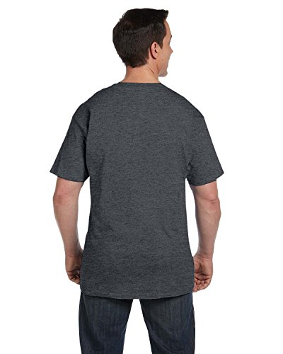 Hanes Men's Beefy-T T-Shirt With Pocket Grau