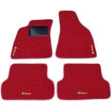 AVANT AUDI A4 desde 2000 a 2004, alfombrillas de coche, color negro, rojo y Battitacco Juego completo de alfombras Alfombrillas a medida de hilo para bordar beige