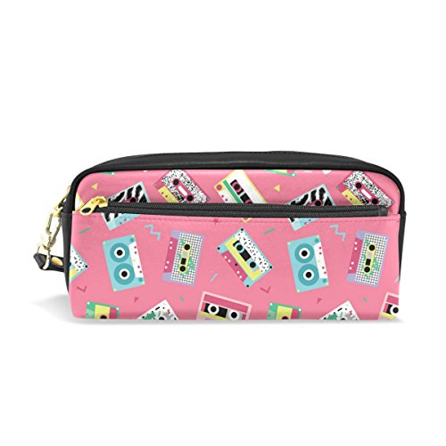 MyDaily Pink Pencil Case Audio Tapes Make-Up Bag/Pencil Case