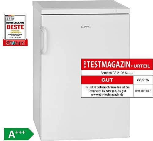 Bomann GS 2196 Gefrierschrank/A+++ / 84.5 cm / 94 kWh/Jahr / 82 L Gefrierteil/Türanschlag wechselbar/[Energieklasse A+++]