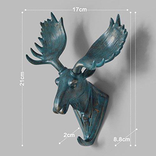 Creativo decorativo Ganci polyresin animale cervo testa testa muro Ganci appendiabiti gancio dietro la decorazione (Polyresin Ganci)