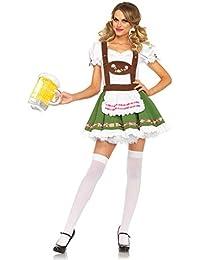 Leg Avenue Costume Oktoberfest Serveuse Sweetie pour Femme Blanc/Vert Taille S
