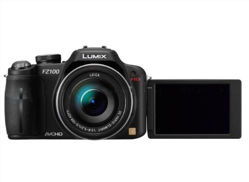 Panasonic Lumix DMC-FZ100EGK Digitalkamera (14 Megapixel, 24-fach opt. Zoom, 7,5 cm (3 Zoll) Display, Bildstabilisator) schwarz (Panasonic Dmc-fz100 Lumix)