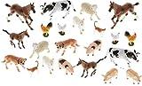 BAUERNHOFTIERE 24 Stück große Tiere für Spiel Bauernhof MEGASET