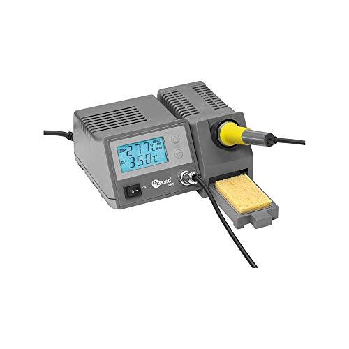 Fixpoint EP5 Digitale Lötstation 48 W mit LCD-Anzeige, Löttemperatur in 1 Grad Schritten wählbar, Temperaturbereich: 150-450 GradC, 51098
