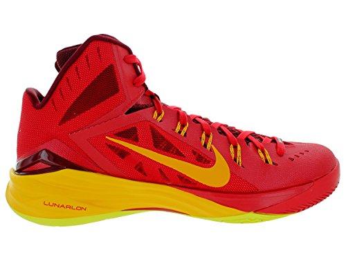 Nike Hyperdunk 2014, Chaussures de Sport-Basketball Homme Rouge