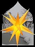 Outdoor gelb 3D AdventssternAußenstern 55 cm beleuchteter Stern Weihnachtsstern Faltstern