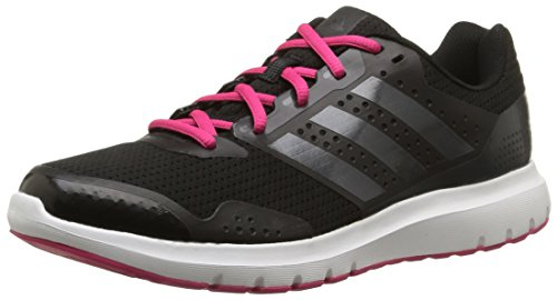 adidas Duramo 7 Damen Laufschuhe, Schwarz (Core Black/Night Met/Bold Pink), 41 1/3 EU