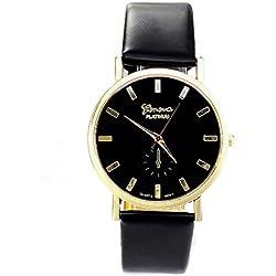 Zolimx Womens Lady Fashion Roman PU Leather Band Analog Quartz Wrist Watch