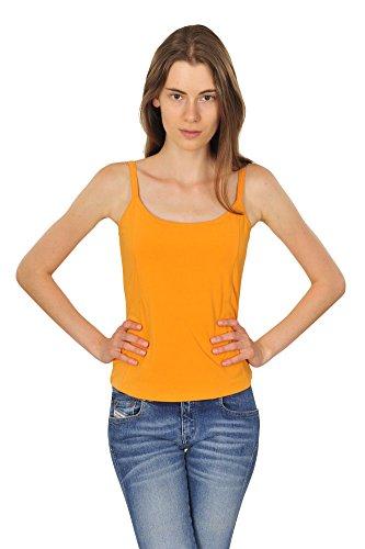 max-mara-top-un-solo-color-anaranjado