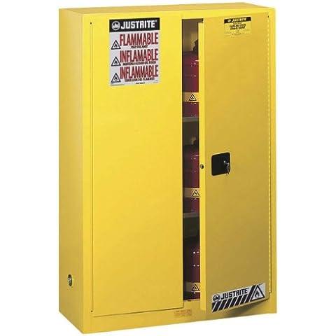 JustRite Sure-Grip EX 8945001FM armario de seguridad para inflamable de líquidos, 2puertas, 2estantes, Manual, cerca, 170L, 1651mm Altura, 1092mm de ancho, 457mm Profundidad, acero, 45L, altura de 65