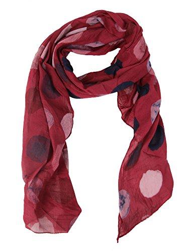 Cashmere Dreams Seiden-Tuch für Damen mit Punkt-Print von Zwillingsherz/Elegantes Accessoire für Frauen auch als Schal/Seiden-Schal/Halstuch/Schulter-Tuch oder Umschlagstuch einsetzbar (weinrot) -