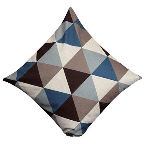 Kissenbezug Kissenhülle 45x45 cm Ronamick Geometrisch Kissenbezug Taille Kissen Abdeckung Sofa Zuhause Dekor (2) -