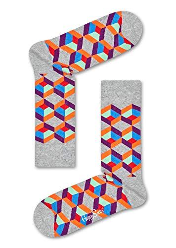 Für Arbeit Kostüm Coole - Happy Socks - Coole bunte Baumwollsocken Optical Illusion für Damen und Herren