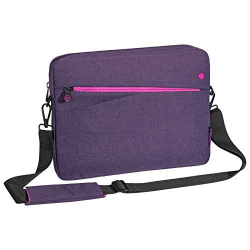 """PEDEA Tablet PC Tasche \""""Fashion\"""" für 12,9 Zoll (32,8 cm) Tablet Schutzhülle mit Zubehörfach und Schultergurt, lila"""