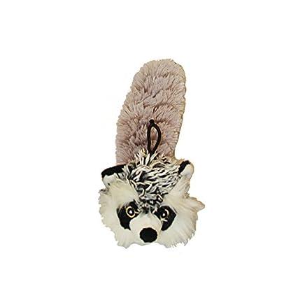 "MULTIPET Bouncy Burrow Buddies Babies Raccoon Small Dog Toy, 8"" 1"