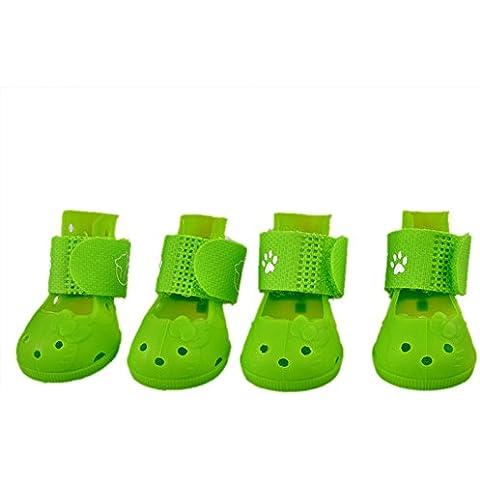 Sandalias Silicona Para Mascotas Sandalias Disponibles Calzado Transpirable Zapatos de Para Cachorro en Verano Lluvioso Exterior de Plástico Blando