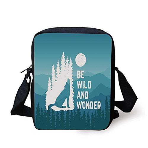 Adventure,Hand Drawn Be Wild and Wonder Quote Howling