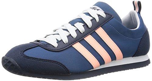 Neu Damen/Damen Blau Adidas Neo Vs Joggen Turnschuhe - blau/Rosa - UK GRÖßEN 3.5-6 - BLAU/ROSA, 39