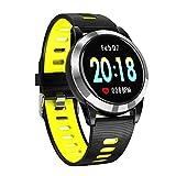 HUIJIN Tracker Fitness, Bracelet de Sport de la fréquence Cardiaque de la Pression Sanguine de détection de Sang de la glycémie, Compatible avec Le système iOS Android,Yellow