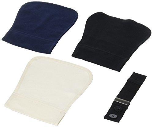 Carriwell Flexigürtel aus Bio-Baumwolle, elastische Bunderweiterung für Schwangere, verwandelt Normale Hosen in Umstandsmode, 3 Stoffeinsätze in Schwarz, Creme & Navy-Blau - Bio-baumwolle Cami