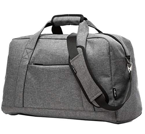 Mkangheting Canvas Travel Handbag for Man Women Weekend Bag Big Capacity Bag Travel Carry on Luggage Shoulder Bags Overnight Grey