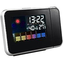 E9Q clima Digital termómetro proyección Snooze despertador Mini proyector