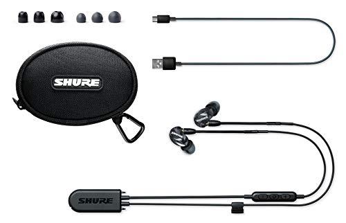 Shure SE215 Bluetooth 5.0 In Ear Kopfhörer mit Sound Isolating Technologie und Mikrofon für iPhone & Android - Premium Kabellos Ohrhörer mit warmem & detailreichem Klang - Schwarz - 3