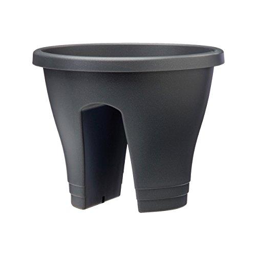 Pot Pour Balcon: Anthracite D.30cm