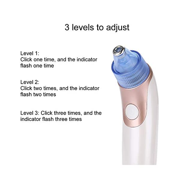 Vacuum Suction Blackhead Removal Rechargeable Face Pore Cleaner Skin Peeling Machine
