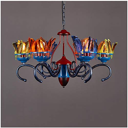 Deckenleuchte Kronleuchter, Loft Bar Gotik Lampe Vintage Leuchte Kreative Licht Schatten Metall...