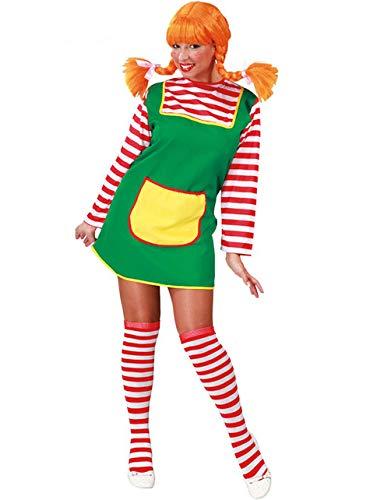 Kostüm Mädchen Freche - freches Mädchen mit roten Haaren - Kostüm für Damen Karneval Fasching rot Gr. M - L, Größe:L