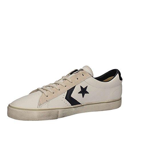 Converse Pro Cuero Vulc Ox, Blanco Hombre Low-neck Sneaker