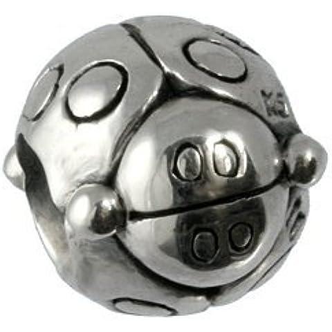 Carlo Biagi Bead{925} plata Escarabajo pulsera colgante BBS039