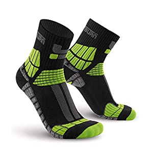 Oxyburn Herren Hiking Short-Cut Light Compression XL Socken