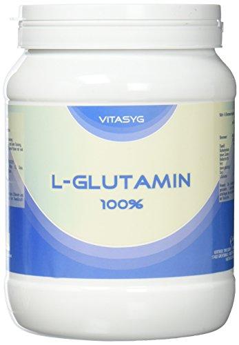Vitasyg L-Glutamin Pulver 100 Prozent rein, optimale Löslichkeit, Aminosäure, 1er Pack (1 x 800 g) - Reines Glutamin Pulver